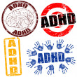 Stock Vector: ADHD stamps