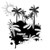 Tropical design — Stock Vector