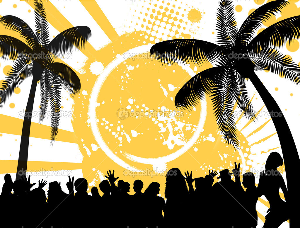 Tropical party background stock vector roxanabalint for Immagini vector
