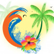 Tropical paradise — Stock Vector