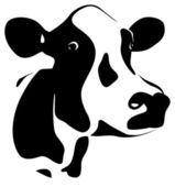Cow head — Vector de stock