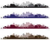 Cityscape achtergronden — Stockvector