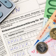 Austrian income tax return — ストック写真