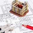 Blueprint of a house. construction — Stock Photo #10747725