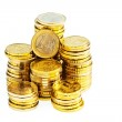 Stack of euro coins — Stock Photo #10748378
