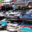 Scrap cars in a junkyard — Stock Photo