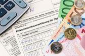 奥地利的所得税纳税申报表 — 图库照片