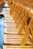 Empty chairs at events due to rain — Stock Photo