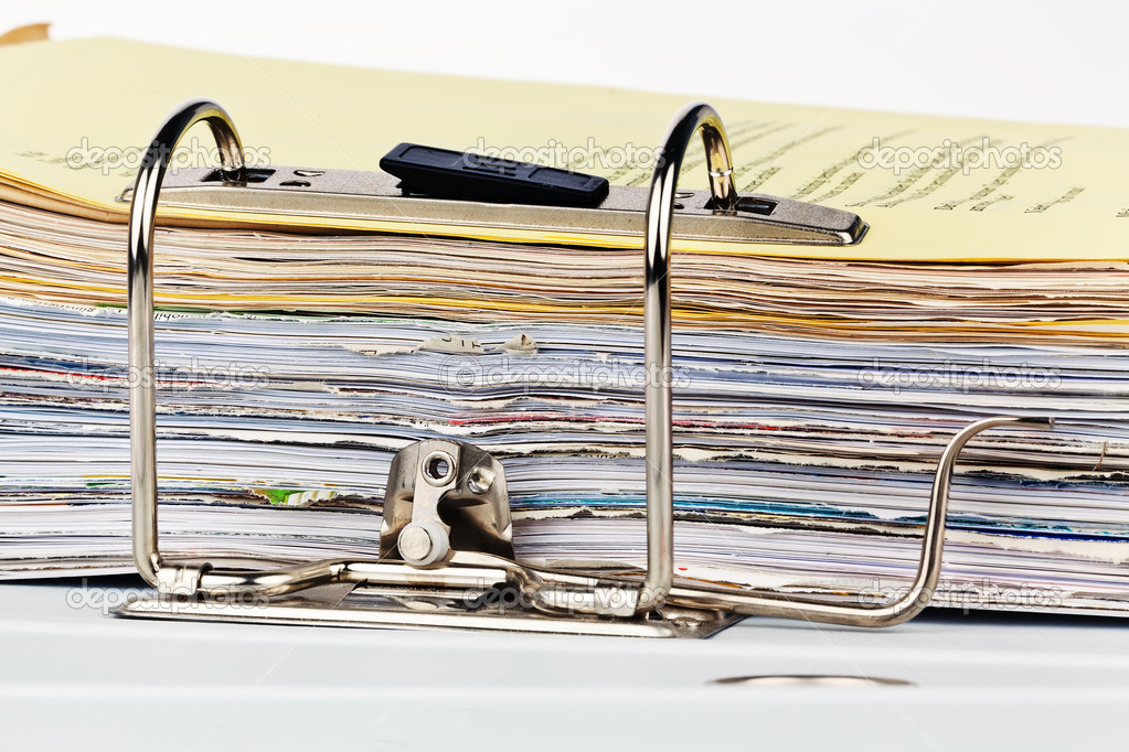A file folder with documents and documents. retention of contracts.  Stock Photo #10748635