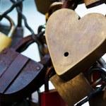 Paris, france. symbols of love — Stock Photo