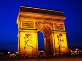 Paris, paris, france. arch of triumph — Stock Photo