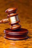 Marteau du juge au tribunal — Photo