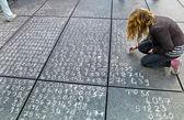 Math problem on a pavement — Stock Photo