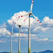 Wind turbine of a wind power plant for electricity — Stock Photo #11058739