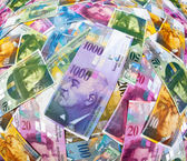 Swiss franc banknotes — Stock Photo