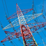 Pylone von einer Hochspannungsleitung — Stockfoto