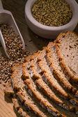 Bread slices of dark bread — Stock Photo
