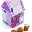 House from € banknotes — Stock Photo