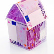 House from € banknotes - ストック写真
