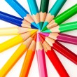 Lots of colored pencils — Stock Photo