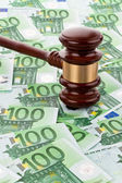 € money and gavel — Foto Stock