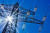 Powerline con sol — Foto de Stock