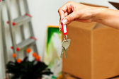 Key when moving a house. — Stock Photo