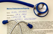 Stethoscope and advance directive — Foto Stock