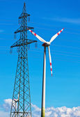 Wind turbine of a wind power plant for electricity — Stock Photo