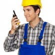 Craftsmen - plumbing - building workers — Stock Photo