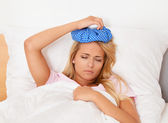 Ice pack for headaches — Stock Photo
