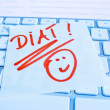 Note on computer keyboard: diet — Stock Photo