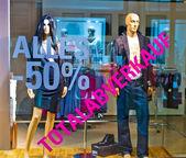 Totale vendite in negozio di abbigliamento — Foto Stock