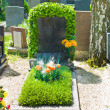 Stone grave in a cemetery — Stock Photo