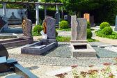 Grave stones in a stone — Stock Photo