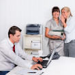 Stock Photo: Bullying in workplace office