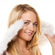 Angel with wings for christmas. — Stock Photo #11861185