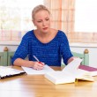 Student studying for her degree — Stock Photo #11888424