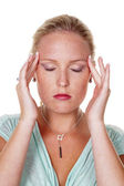 Woman makes acupressure — Stock Photo