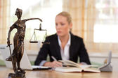 Attorney in the office — Stock Photo