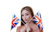 Bandera bitish — Foto de Stock