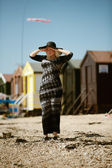Down the beach — Foto de Stock