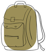 Backpack — Stock Vector