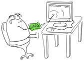 Internet shopping — Cтоковый вектор