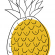 Pineapple - Imagen vectorial