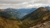 View from Kepler's Track in New Zealand — Стоковое фото