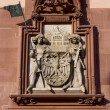 Stock Photo: Decoration found on the wall of the town hall in Frankfurt