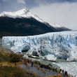 Perito Moreno Glacier as one of the few in the world continues to grow — Stock Photo