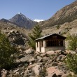 Stock Photo: On Himalaytrails meet lot of tehouses and restaurants