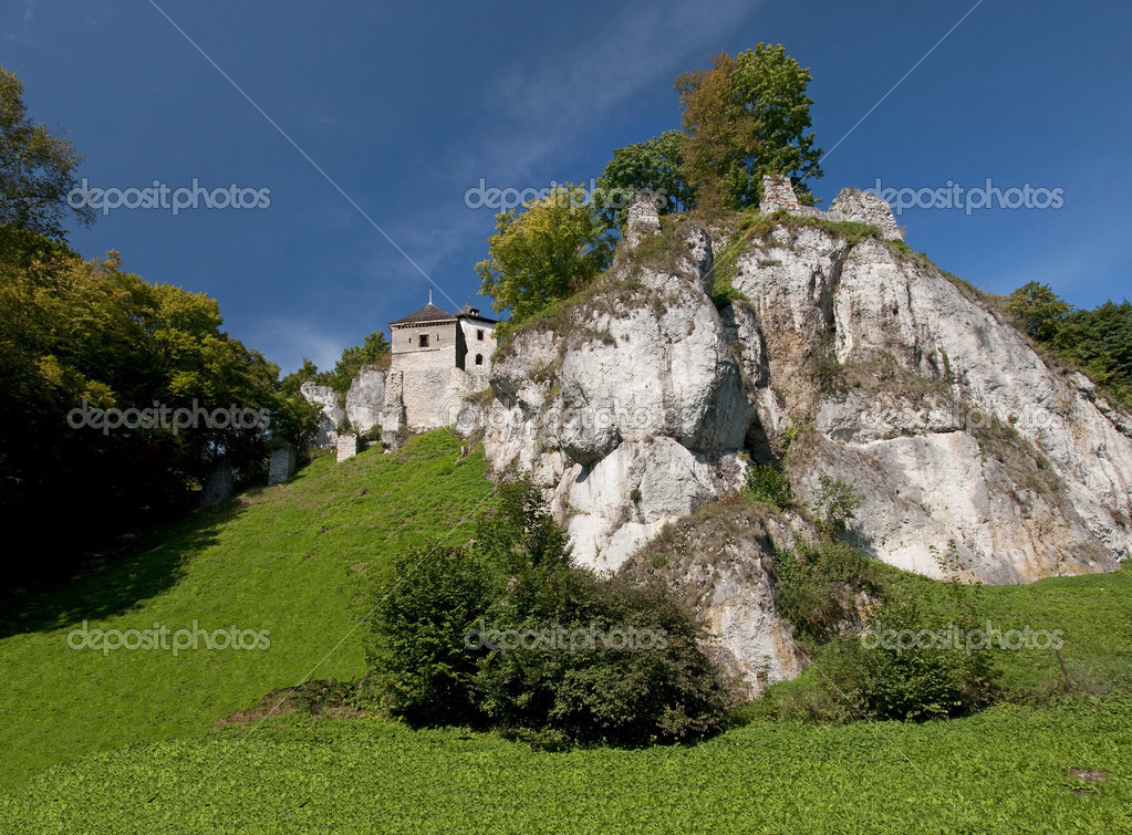 Medieval castles built on inaccessible rocks are called eagles sockets. — Stock Photo #11026166